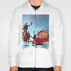Christmas, funny skeleton Hoody