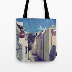 Santorini Walkway Tote Bag