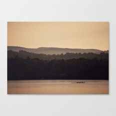 Sculling at Dawn Canvas Print