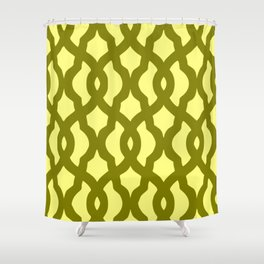 Grille No. 2 -- Yellow Shower Curtain
