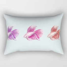 Fighting Fish Rectangular Pillow