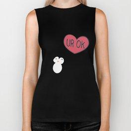 UR OK Penguin in love Biker Tank