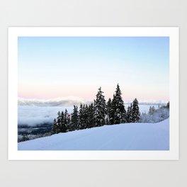 Ski area boundary Art Print