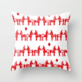 Dala Horse Throw Pillow
