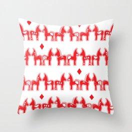 Dala Horse Throw Pillow