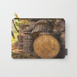 Wood pattern in the forest Carry-All Pouch