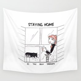 Staying Home Wall Tapestry