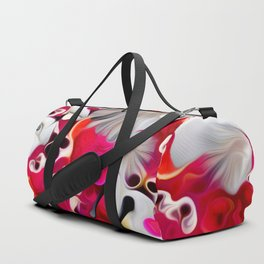 Pink and White Delight Duffle Bag