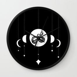 Snake & Lunar Phases Wall Clock