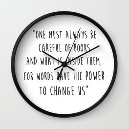 Words Have The Power To Change Us Wall Clock