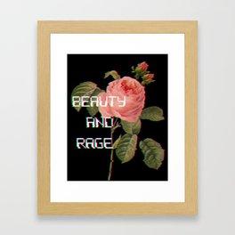 Beauty And Rage Framed Art Print