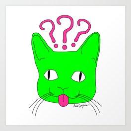 """""""Heckin Confused Derp Cat V.2"""", by Brock Springstead Art Print"""