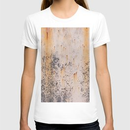 Abstract textures in old metal T-shirt