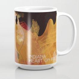 INDIANA - Heart On Fire Coffee Mug