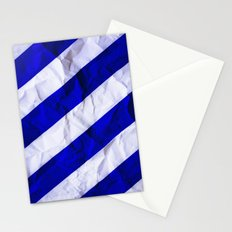 Crumbled Navy Stripes Stationery Cards