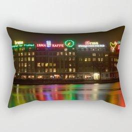 Copenhagen reflections at night Rectangular Pillow
