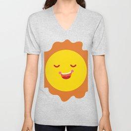 Bright Sun Omellete Summer Unisex V-Neck