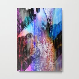 Technocolor abstract grunge Metal Print