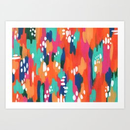 Abstract Warm Turquoise Dream Art Print