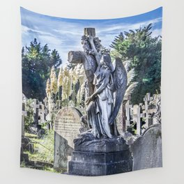 Cemetery Headstone Wall Tapestry