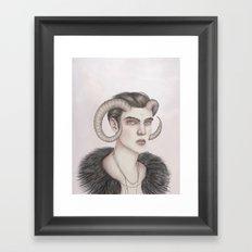 Zodiac: Aries Framed Art Print