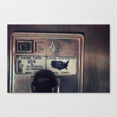 Pay Phone III Canvas Print