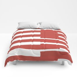 Big Stripes In Red Comforters