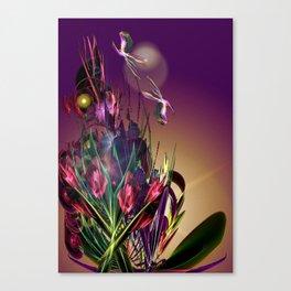 Sunset Butterflies Canvas Print
