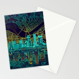 louisville skyline abstract Stationery Cards