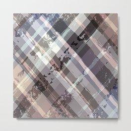Crossword Traditional Quilt Pattern Metal Print