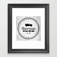 Sherman Park Framed Art Print