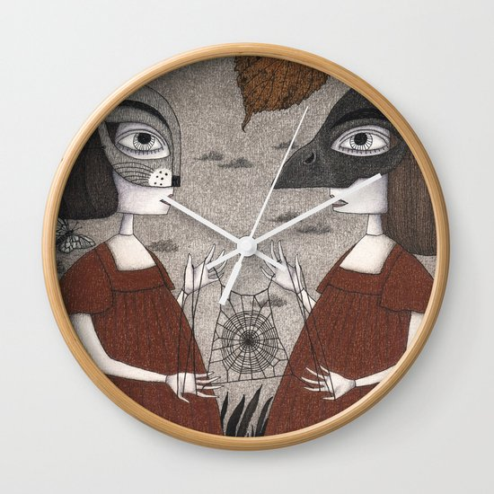 Ana and Eva (An All Hallows' Eve Tale) Wall Clock