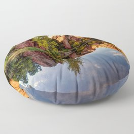 Red Rocks Reflection Floor Pillow