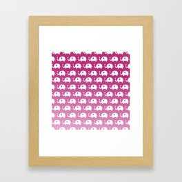 Elephants in Love (Pink) Framed Art Print