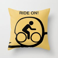 Ride On! Throw Pillow