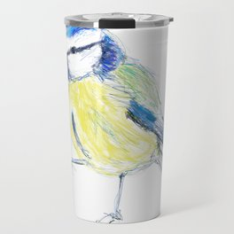 Beautiful Blue Tit Garden Bird Travel Mug