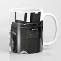 cameras Mugs featuring cameras by Falko Follert Art-FF77
