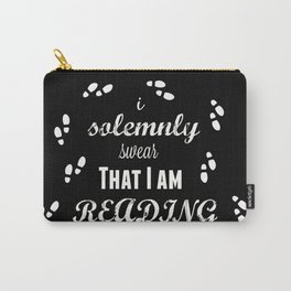 I Solemnly Swear That I Am Reading Carry-All Pouch