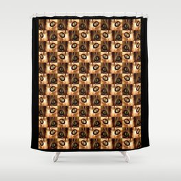 Cat and eyes - Shower Curtain