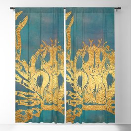 Deep Sea Life Crab Blackout Curtain