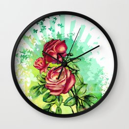 Convergency: Rose from a Lilypad Wall Clock