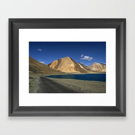 Road to the Blue! Framed Art Print
