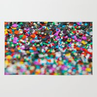 confetti Area & Throw Rugs featuring Confetti by Laura Ruth