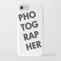 photographer iPhone & iPod Cases featuring Photographer by Rothko