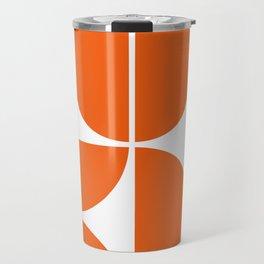 Mid Century Modern Orange Square Travel Mug