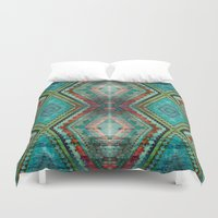 aztec Duvet Covers featuring AZTEC by ED design for fun