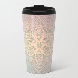 Rainbow Boho Mandala Travel Mug