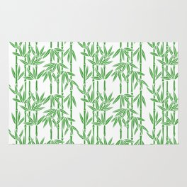 Bamboo Rainfall in White/Sullivan Green Rug