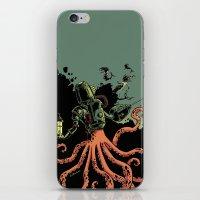 scuba iPhone & iPod Skins featuring tentacle scuba by Sarah Baslaim