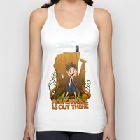 adventure is out there Tank Tops featuring Adventure by BlancaJP